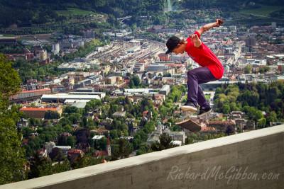Patrik Pittl, Kick Flip, Innsbruck, Austria