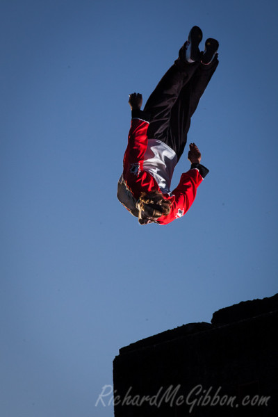 Parkour with Dominic Di Tommaso at Middle Head fort, Sydney.