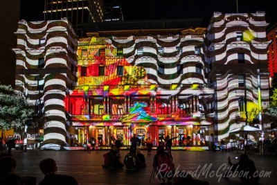 The lights of the Vivid festival in Sydney, Australia, 2014