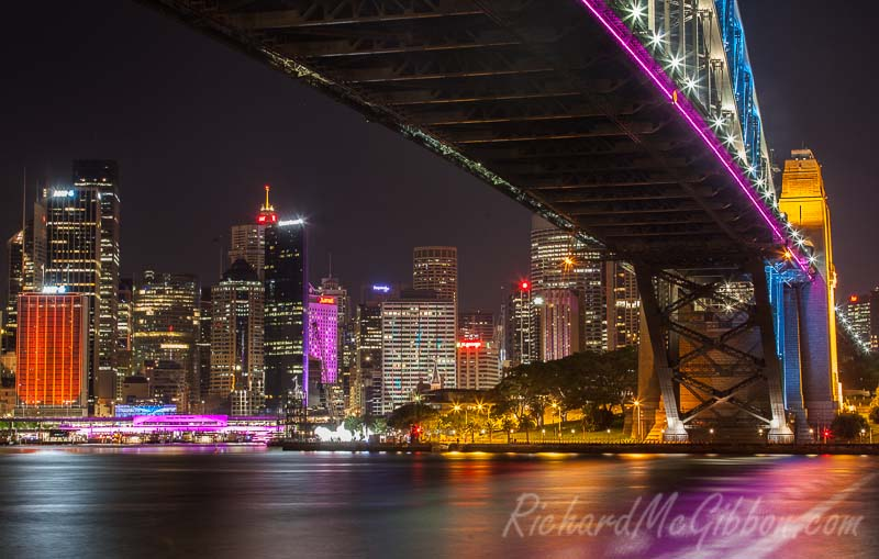 The lights of the Vivid festival in Sydney, Australia, 2014