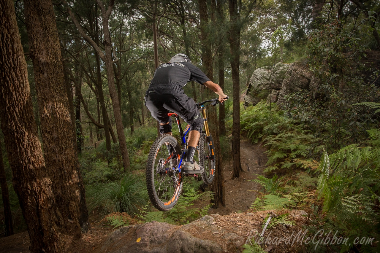 Riding the local trails