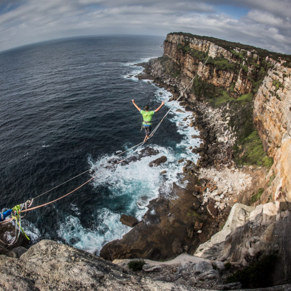Highlining on the coast