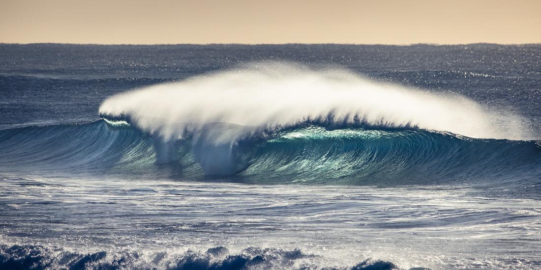Big wave at Narrabeen Beach
